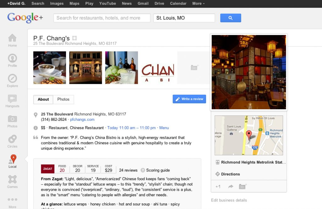 Web to store google local