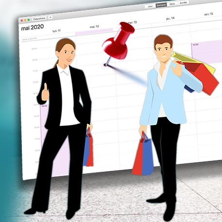 module de prise de rendez-vous en ligne pour faire du shopping